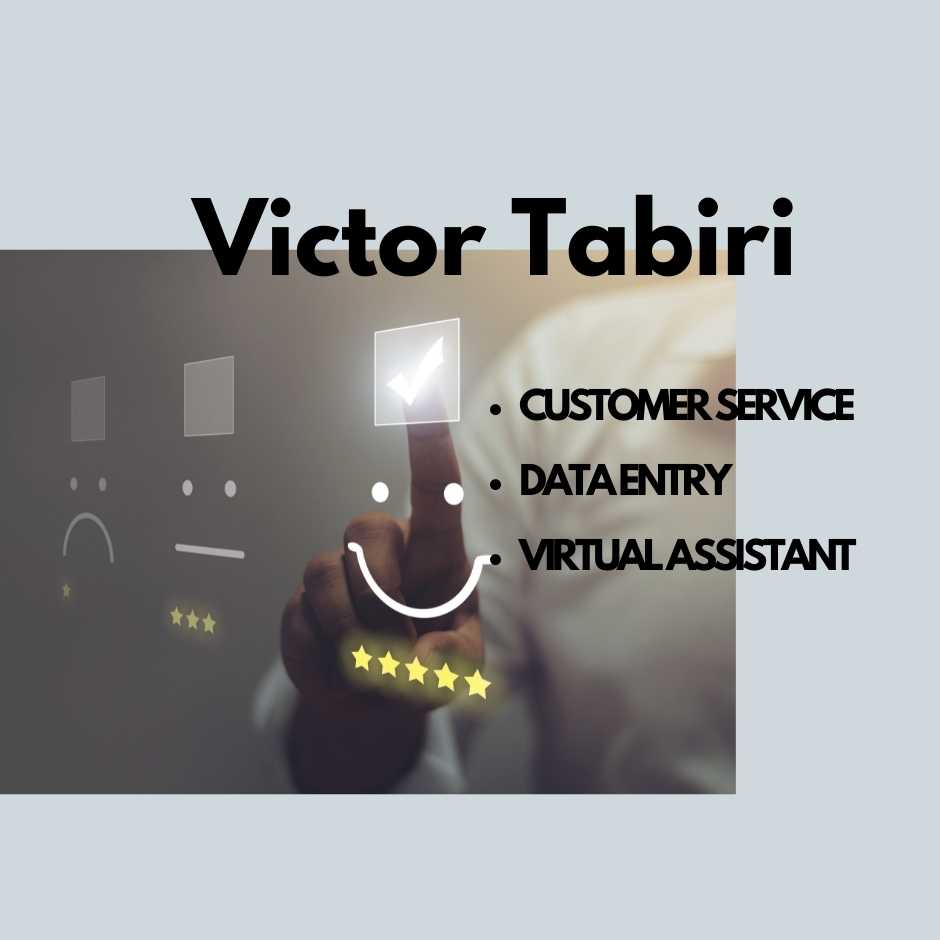 7 hours Customer Service or Assistant or Data Entry